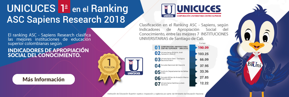 UNICUCES 1ra en el Ranking ASC